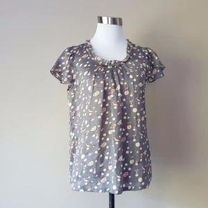 Pullover Shirt Size 40 European Small Gray Grey